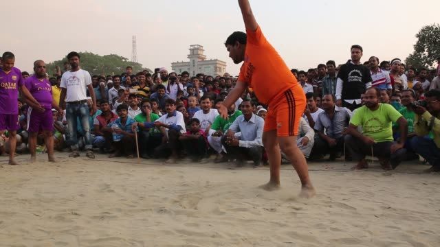 blind beggars going to attend kabaddi play in dhaka bangladesh on october 21 2016 blind beggar in bangladesh arrange a kabaddi competition in dhaka... - visual impairment stock videos & royalty-free footage