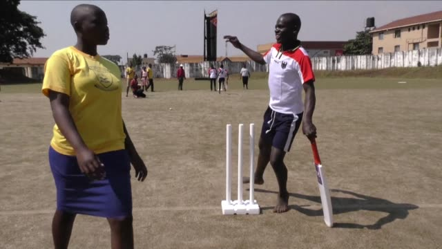 blind children in uganda compete at a cricket match for visually impaired youngsters in kampala as part of an initiative to encourage more disabled... - visual impairment bildbanksvideor och videomaterial från bakom kulisserna