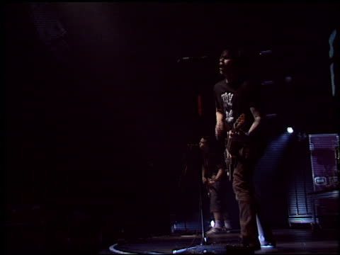 blink 182 at the kroq almost acoustic christmas day at universal amphitheatre in universal city, california on december 13, 2003. - kroq stock videos & royalty-free footage