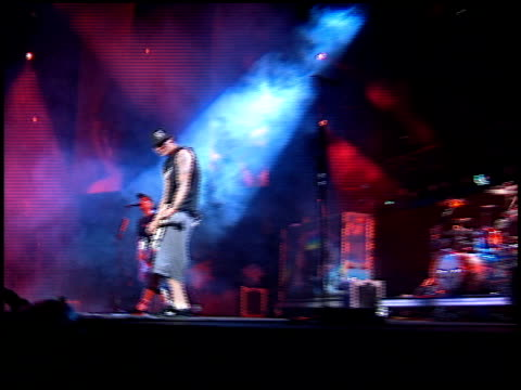 blink 182 at the kroq weenie roast at verizon amphitheater in irvine california on june 23 2001 - kroq weenie roast stock videos & royalty-free footage