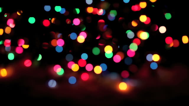 blinking christmas lights at night - loopable (hd,ntsc) - defocussed stock videos & royalty-free footage