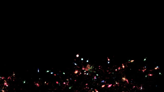 blinking christmas lights at night (hd,ntsc) - christmas lights stock videos & royalty-free footage