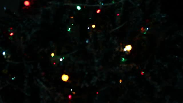 Blinking Christmas Lights , Blurred