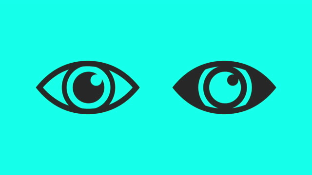 blinking eye - vector animate - eyelid stock videos & royalty-free footage