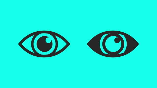 blinking eye - vector animate - outline stock videos & royalty-free footage