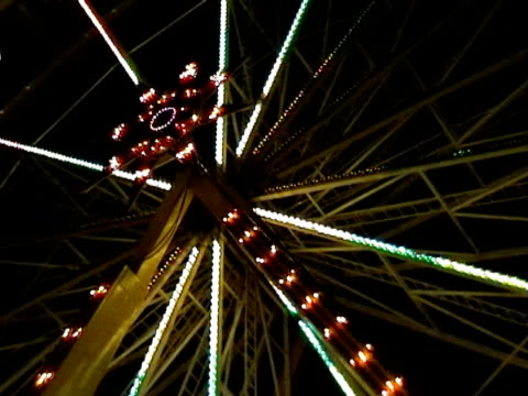 blinking star of ferris wheel  2 - blinking star stock videos & royalty-free footage