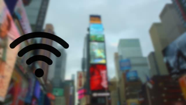 Blinzeln W-LAN-hotspot New York City Times Square