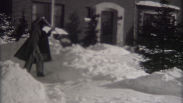 blizzard in indiana 1940's - midwest usa stock videos & royalty-free footage