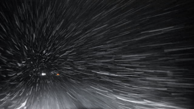 blizzard on the highway: driving in snowstorm - blizzard stock videos & royalty-free footage