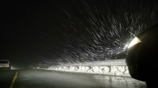 blizzard on the highway - syracuse stock videos & royalty-free footage