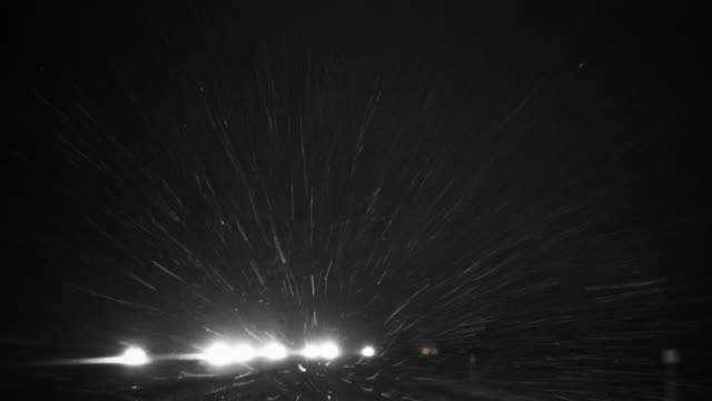 Blizzard on the highway