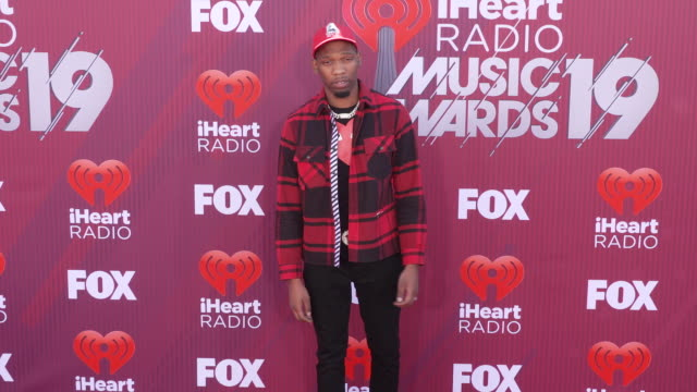 BlocBoy JB at the 2019 iHeartRadio Music Awards at Microsoft Theater on March 14 2019 in Los Angeles California