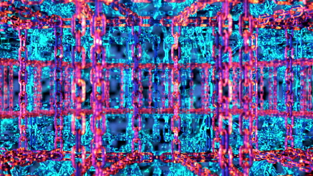 ブロックチェーン技術コンセプト - 鎖点の映像素材/bロール
