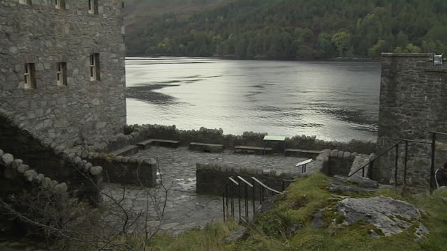 Block Shot Lake Eilean Donan Castle Western Highlands Scotland United Kingdom