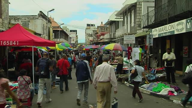 Block Shot People at Market Port Louis Mauritius