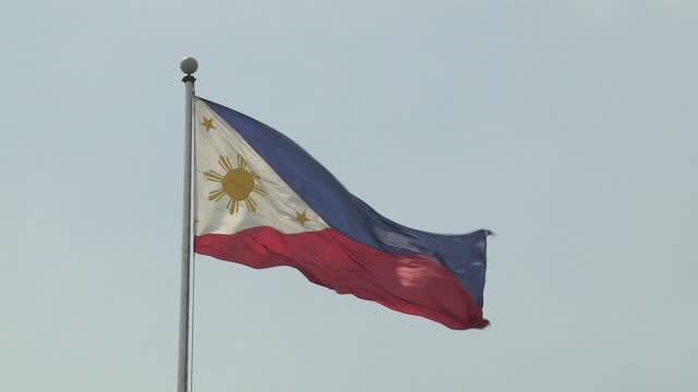 block shot philippines flag boracay philippines - philippines flag stock videos & royalty-free footage