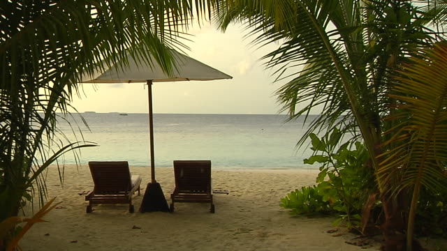 block shot pool umbrella male maldives - outdoor chair stock videos and b-roll footage