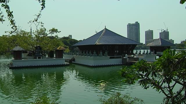 block shot seema malaka temple colombo western province sri lanka - sri lankan culture stock videos & royalty-free footage