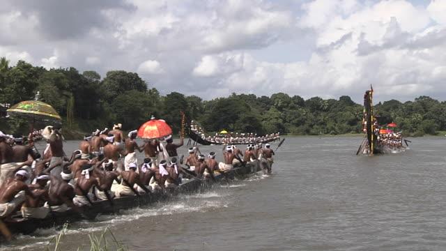 block shot snake boat race kerala  - nautical vessel stock videos & royalty-free footage