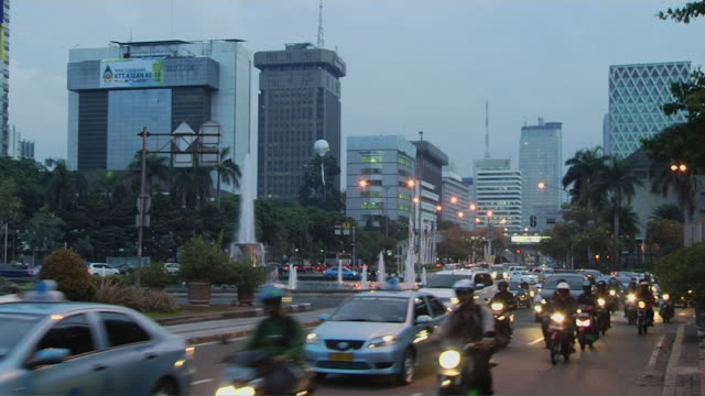 block shot traffic jakarta indonesia - indonesia stock videos & royalty-free footage