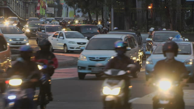 block shot traffic jakarta indonesia - jakarta stock videos & royalty-free footage