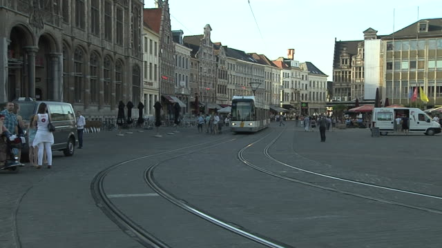 Block Shot Train Ghent City Ghent East Flanders Belgium