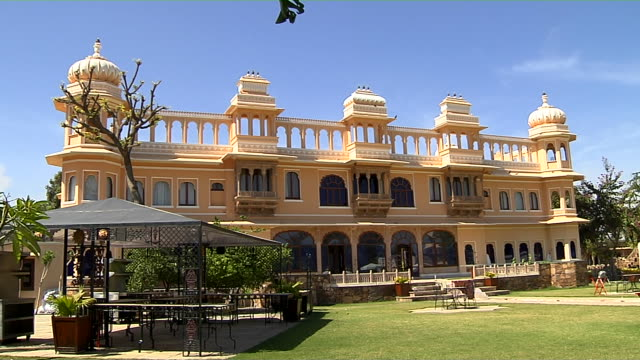 Block Wide Shot Fateh Bagh Palace Udaipur Rajasthan India