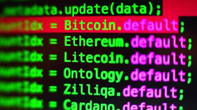 blockchain コーディング - イーサリアム点の映像素材/bロール