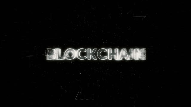 vídeos de stock e filmes b-roll de blockchain word animation - blockchain