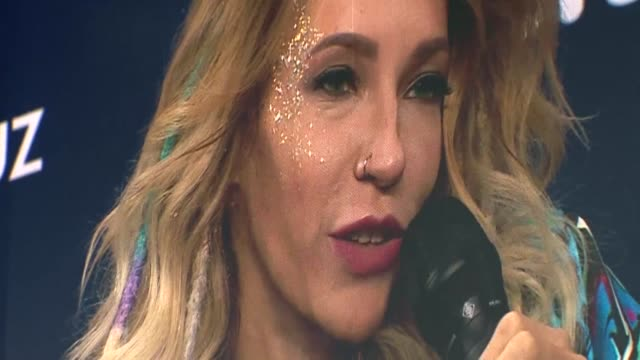 vídeos de stock e filmes b-roll de blocked from taking part in the eurovision song contest in ukraine last year due to a row between moscow and kiev russian singer yuliya samoilova... - ucrânia