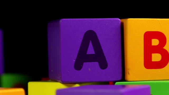 abc blocks - close up - the alphabet stock videos & royalty-free footage
