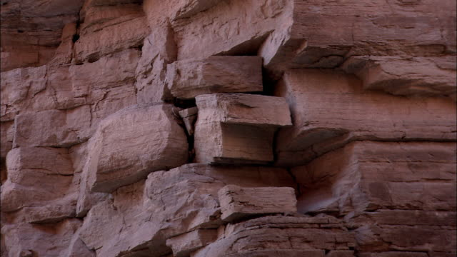 blocks of sedimentary rock characterize walls of the grand canyon. - sedimentary rock stock videos & royalty-free footage