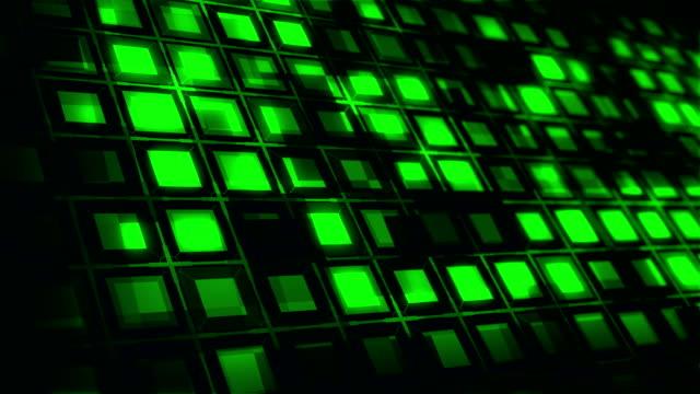 vídeos y material grabado en eventos de stock de bloques cuadrados caja fondo de partículas (loopable) - bloque forma