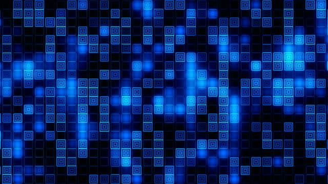 vídeos y material grabado en eventos de stock de bloques cuadrados caja fondo de partículas - arte decorativo