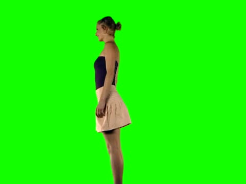 blond girl spin - spinning stock videos & royalty-free footage