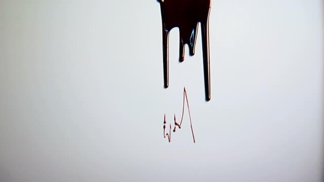 blood dripping - spooky stock videos & royalty-free footage