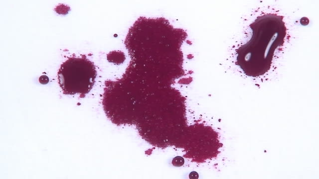 Blood drops on the white cloth