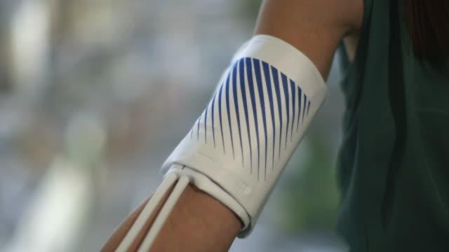blood pressure test - blood pressure gauge stock videos & royalty-free footage