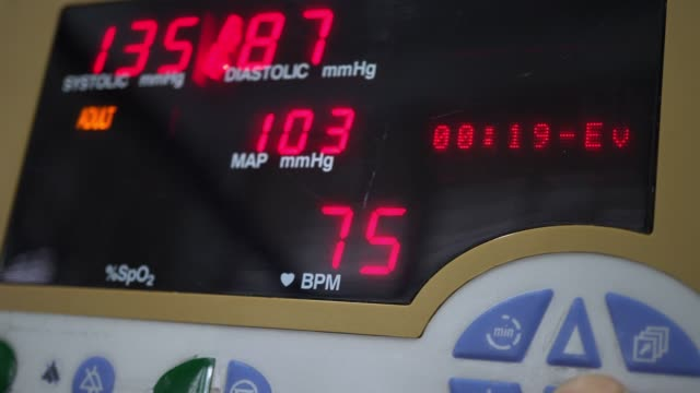 blood pressure - blood pressure gauge stock videos & royalty-free footage