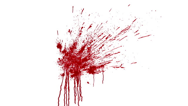 blood splatter animation with matte - spraying stock videos and b-roll footage