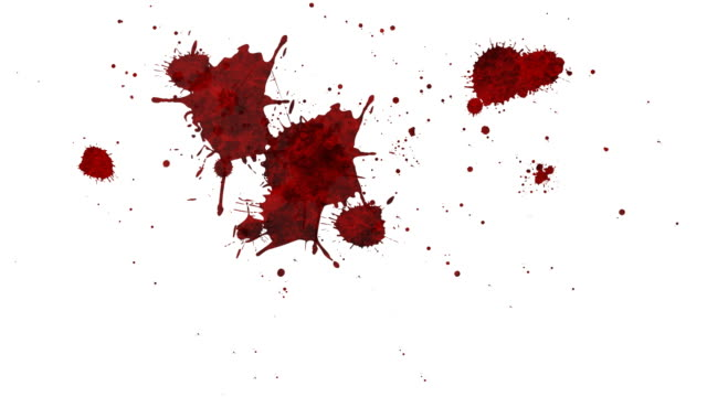 blood splatter - blood stock videos & royalty-free footage