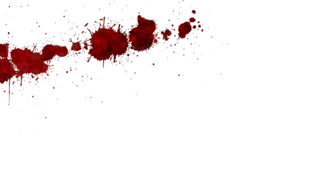 blood splatter - stained stock videos & royalty-free footage