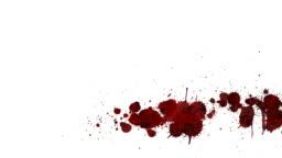 Blood Splatter Stock Footage Video