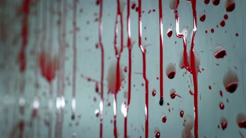 vídeos y material grabado en eventos de stock de blood splatters on a white wall and drips - blood