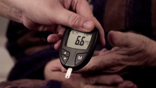 blood sugar testing - glucose stock videos & royalty-free footage