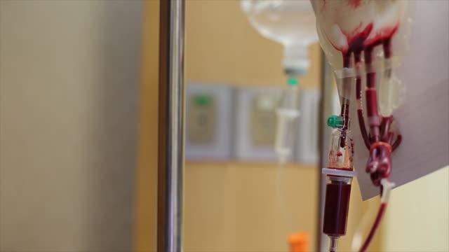 Blood transfusion in hospital