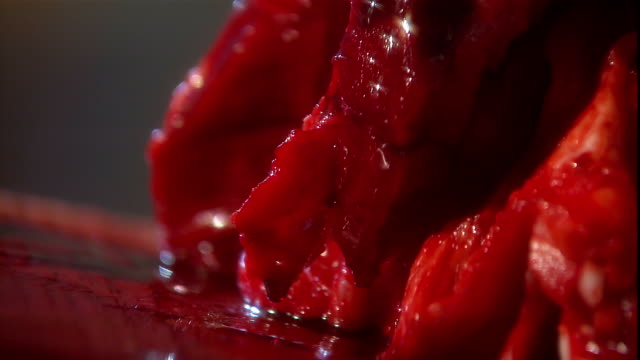 bloody flesh occupies a table. - bloody gore stock videos & royalty-free footage