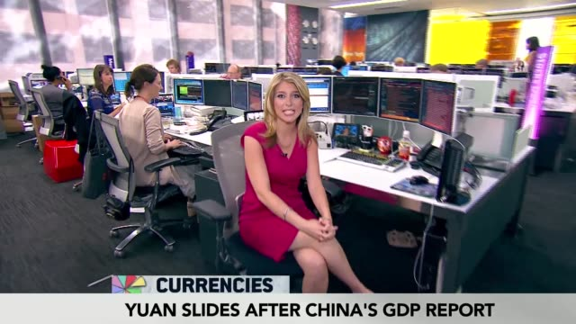 bloomberg tv 1200 show 'lunch money' featuring opening segment the whip with anchor stephanie ruhle markets reporter dominic chu currencies... - stephanie ruhle stock videos & royalty-free footage