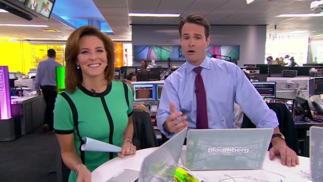 bloomberg tv 1200 show 'lunch money' featuring studio intro with anchors stephanie ruhle and adam johnson options intro with dominic chu currencies... - stephanie ruhle stock videos & royalty-free footage