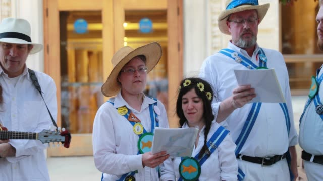 The Bloomington Quarry Morris dancers perform on the south side of the Monroe County Courthouse at sunrise May 1 2019 The group traditionally...
